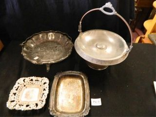 Silver Plate  Trays Unmarked