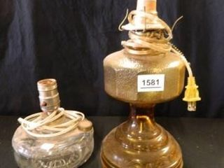 Oil lamps  Modified to Electric   2