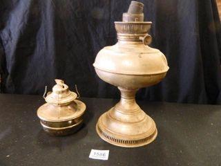 Metal Oil lamps 2  Dents