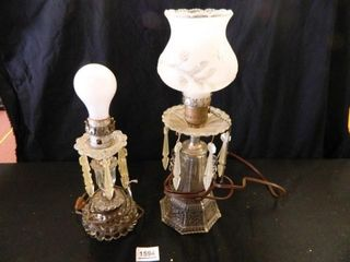 Glass lamps w Prisms