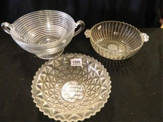 Glass Bowls  Manhattan Depression