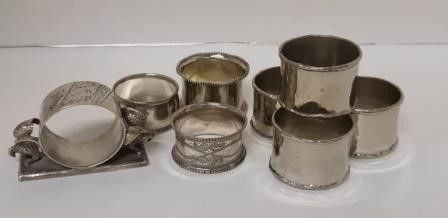 Silverplated Napkin Rings  1 Sterling
