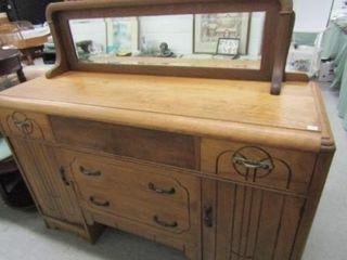 Antique Sideboard w Mirror
