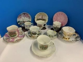 Souvenir Teacups   Saucers