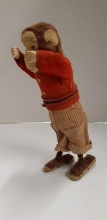 Antique Wind Up Monkey Toy