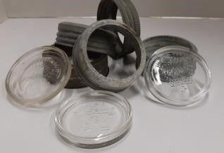 Assortment of Mason Jar lids   Rings