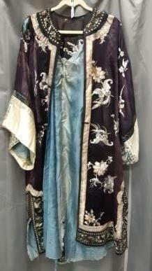 Antique Silk Kimono Style Robe