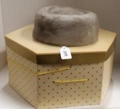 ladies Fur Pillbox Hat