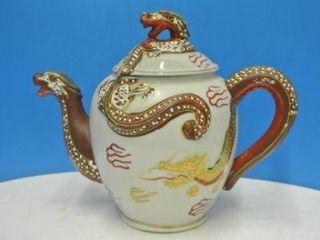 Japanese Double Dragon Tea Pot