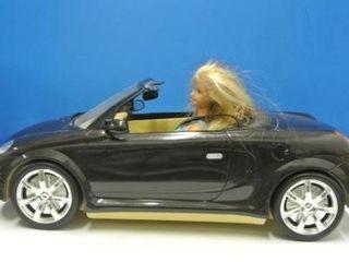 Retro Barbie in Convertible Car