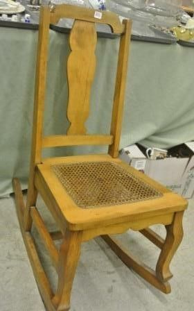 Cane Seated Child s Rocking Chair