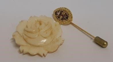 Ivory Rose Brooch