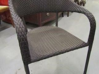 Woven Wicker Style Patio Chair