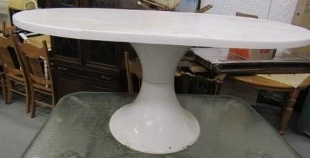 Pedestal Base Outdoor Dining Table