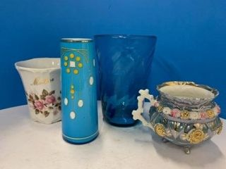 Antique Footed Cup lot