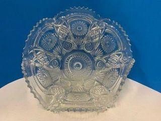 Ruffled Edge Vintage Glass Bowl