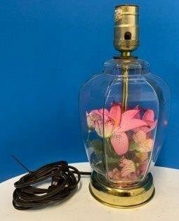 Glass Base Boudoir lamp