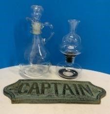 Cast Iron Captain Sign