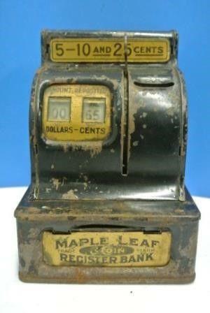 Maple leaf Coin Register Bank