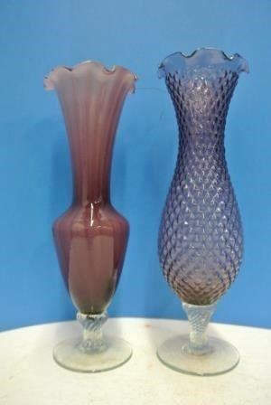 Amethyst Glass Bud Vases