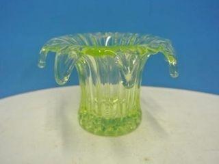 Vaseline Coloured Glass Vase