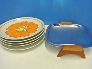 Retro Plates   Aluminium Dish