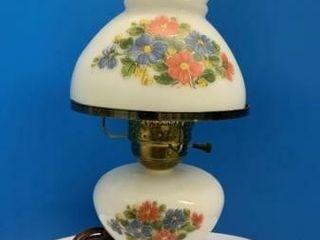 Milk Glass Electric Oil lamp