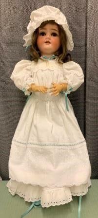 Antique S   H German Porcelain Doll