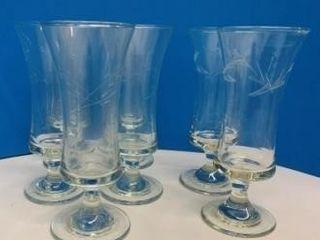 Etched Parfait Glasses