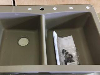 Sinkology Undermount Double Sink Grey