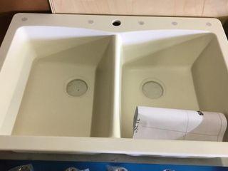 Sinkology Undermount Double Sink Bone