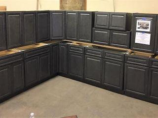 New Castle Grey Kitchen Cabinet Set