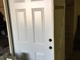Reeb 36x80 Steel Prehung Entry Door Right