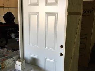 Reeb 36x80 Steel Prehung Entry Door left