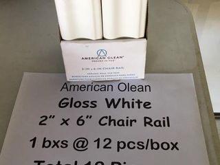 American Olean 2x6 Chair Rail Tiles Gloss White