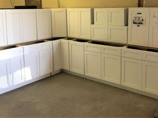 Arcadia White Kitchen Cabinet Set