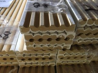Arauco Primed Fluted Case 3 1 4 x 7 ft long