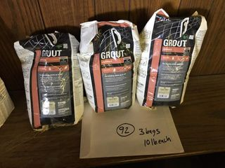 Three 10 lb bags tile grout All Antique White
