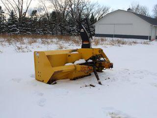 ERSKINE 8' DOUBLE AUGER SNOWBLOWER, 3PT, MODEL 960R, 540 PTO, HYD SPOUT