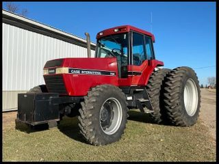 1992 CASE IH 7120 MFWD TRACTOR, 18 SPEED POWERSHIFT, 3 HYD, 3PT, QUICK HITCH, 540 & 1000 pto,