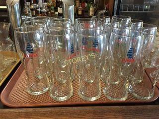 17 Molson Export Beer Glasses