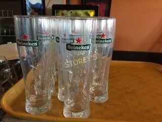 14 Heineken Beer Glasses