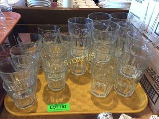 Qty of Asst Rock   Water Glasses