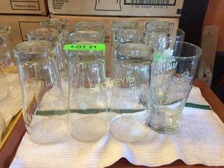 12 Asst Molson Canadian Beer Glasses
