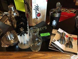 Jiggers  Barware  Glass Rimmer  Shakers  Etc