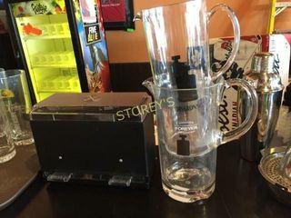 Straw Dispenser   2 Plastic Mugs
