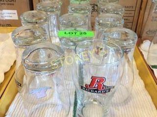 14 Rickards Beer Glasses