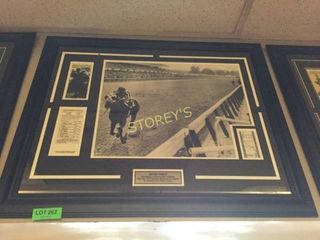 Secretariat Race Horse Framed Picture