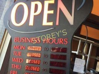 Illuminated OPEN Sign