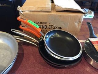 4 Asst Frying Pans